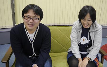 デザイナーの二人、左から町田、赤塚