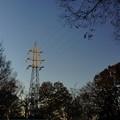 日暮れの鉄塔