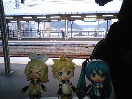 ミク:「下関駅に到着です!」 リン:「さぁーいよいよ九州!! 関門...