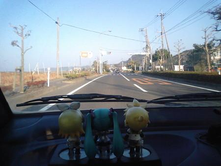 ミク:「国道220号ですね」 レン:「佐多岬を往復した時に通ったよね」