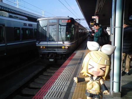 リン:「新快速で、大阪までヅバビューンだぉ!!」 ■姫路  9:26 → ...