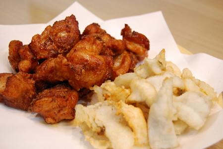 鶏からとヒラメとマゴチの唐揚げ