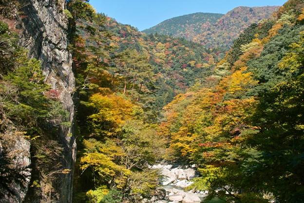 三段峡の秋