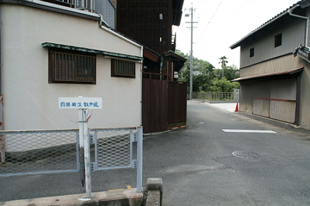 岡田町並散歩道の看板