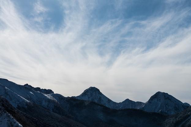赤岳から立ち昇る雲