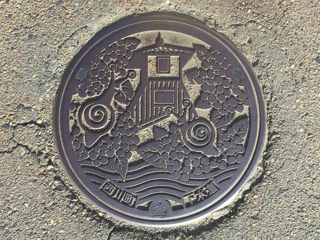 マンホール 新潟県新潟市旧西川町