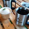 雪室珈琲飲みたいね、といただきに来ました*?鹿瀬にて、女子二人のお茶会?#Manma?Cafe?#鹿瀬町?#coffee?