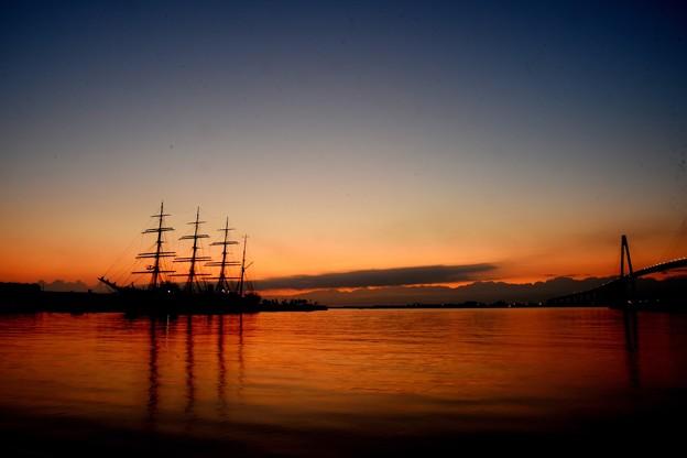 海王丸パークの夜明け前 DSC_0700