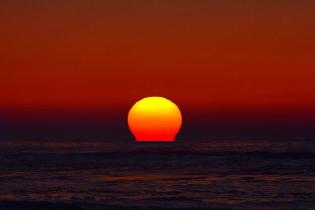千里浜海岸の夕陽 DSC_3840