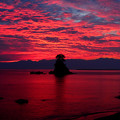 写真: 海面も染める朝焼け(蔵出し)IMG_9929