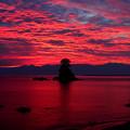 海面も染める朝焼け(蔵出し)IMG_9929