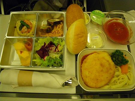 JALビジネスクラスの夕食