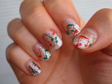 クリスマスネイル右手