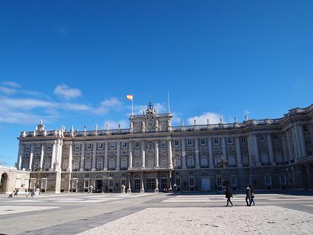 マドリード王宮の広場