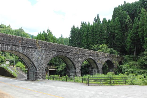 写真: 明正井路第一拱石橋