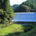 写真: 白水ダム遠景