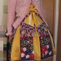 今日のお出かけで着た服。メタモの今年の和柄でハイカラ小町コーデ。今年の和柄もデザインが可愛い(*´∀`)