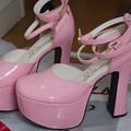 Photos: 最終日まで残っていた訳あり(傷あり)のお靴。サイズがあって、値段も脅威の\3,240だったのでつい購入w ヒール高いし転けないようにしないとなぁ(^_^;)