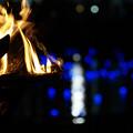 写真: 泰平の祈りを照らす