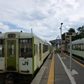 戸狩野沢温泉にて列車交換