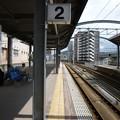佐世保駅から早岐・長崎方面を望む