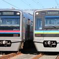 写真: 京成3000形 3027F・千葉NT鉄道9200形 9201F