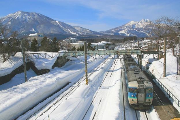 黒姫駅にて