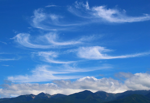 Photos: 八ヶ岳と秋の空
