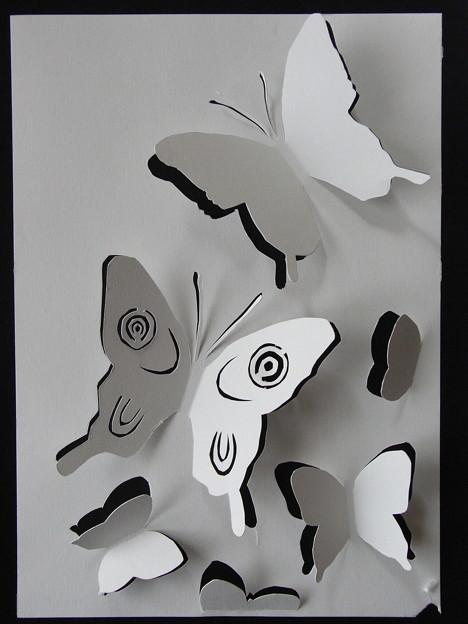 蝶の切り絵試作1号