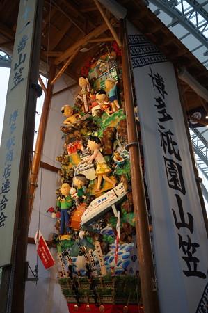 11 2014年 博多祇園山笠 博多駅の飾り山笠 サザエさん (9)