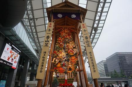 11 2014年 博多祇園山笠 博多駅の飾り山笠 軍師黒田官兵衛 (2)