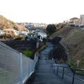 写真: 上って来た階段