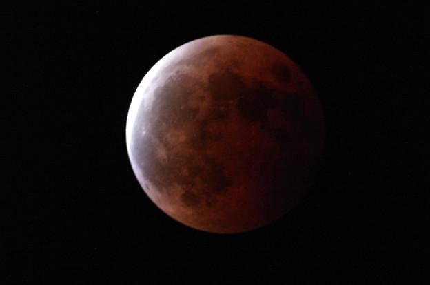 赤い月(皆既月食)