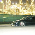 写真: 工場と愛車