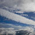 写真: 高積雲からの尾流