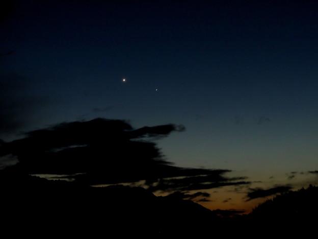 東方最大離角の水星のと金星(2015.01.15)