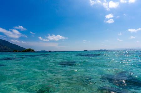 海が綺麗だ〜