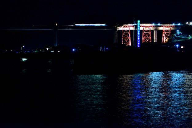 夜の餘部橋梁