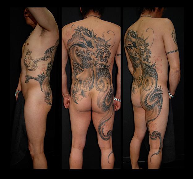 刺青 大阪 タトゥー 龍 和彫り dragon tattoo