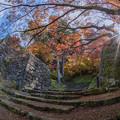 晩秋の城址