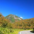 写真: 知床峠近くの紅葉