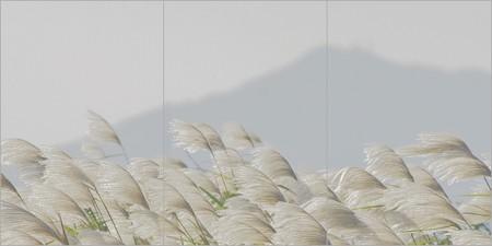 秋景色・相模川芒屏風。