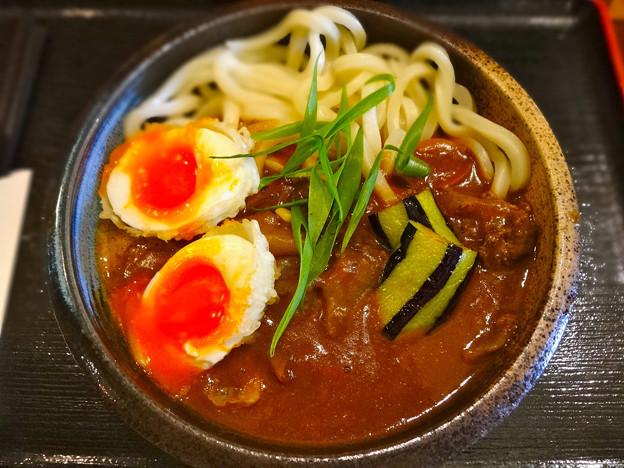 美の庵 牛すじカレーうどん curry udon 広島市中区東白島町