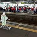 Photos: 広島駅 在来線2番線ホーム 広島市南区松原町 スマホアプリ 舞台めぐり AR撮影 2016年8月11日
