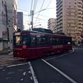 写真: 広島電鉄 TRAIN ROUGE トランルージュ 広島市西区観音町 観音町電停手前 中広通り