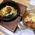 写真: 石焼ビビンバ ミョンドンヤ チーズビビンバ  冷麺 広島市中区宝町 フジグラン広島