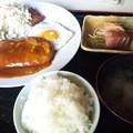 Photos: 朝からハンバーグ定食。
