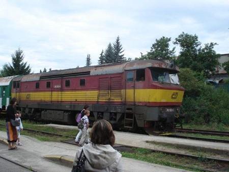 ブディェヨヴィツェ行き列車(クルムロフ駅)