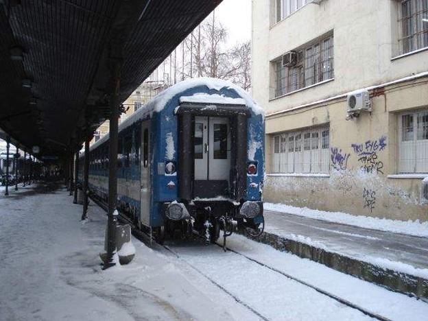 写真: ブダペスト行き列車(ベオグラード駅)(1)