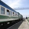 写真: N56列車(ウルゲンチ駅)(1)